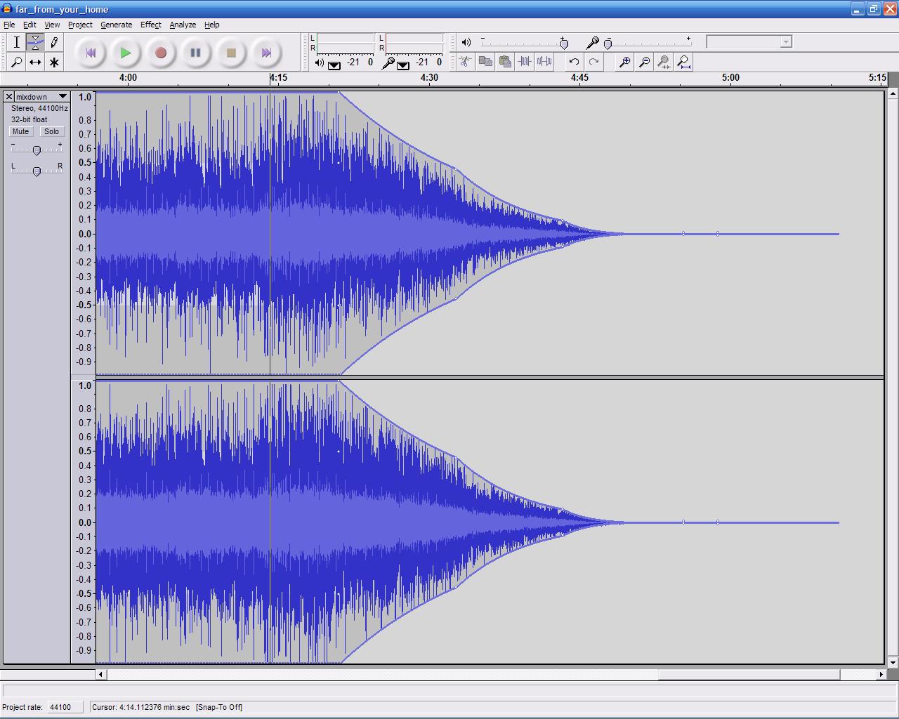 Afbeeldingsresultaat voor audio fade out